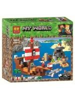 Конструктор Bela Minecraft Приключения на пиратском корабле №11170