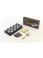 Набор 3 в 1 шашки шахматы нарды пластиковые магнитные