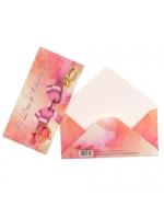 Конверт для денег С Днём Свадьбы розовый бант 16 см × 8 см × 0,1 см