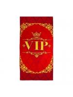 Подарочное сувенирное полотенце махровое Вип Vip 70х140 см