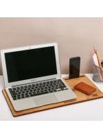 Органайзер подставка для ноутбука Орнамент деревянная