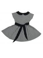 Платье детское в клетку короткий рукав Летний блюз