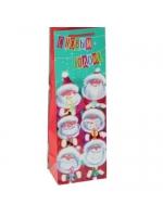 Пакет подарочный под бутылку Дедушка Мороз 36 х 12 х 8,5 см