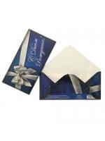 Конверт для денег С Днём Рождения серебряный бант 16,5 × 8 см