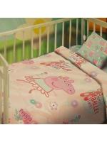 Постельное бельё Свинка Пеппа Балерина бязь манежный