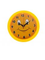 Часы настенные круглые Смайлик с цифрами циферблат 23х23 см