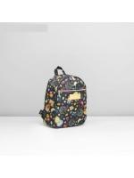 Рюкзак на молнии Совушки 1 отдел наружный карман цвет чёрный 22*13*28 см