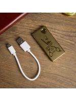 Зажигалка электронная Барбершоп USB 7.5х12 см