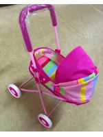 Коляска детская розовая лежачая в ассортименте
