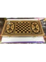 Набор 3 в 1 шашки шахматы нарды в деревянные большое поле