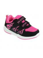 Кроссовки детские для девочки Спорт розовые с черным