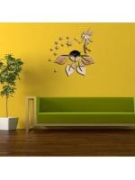 Часы зеркальных настенные феечка со звездами на цветке
