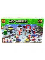 Конструктор Bela Minecraft 11029 Зимние игры